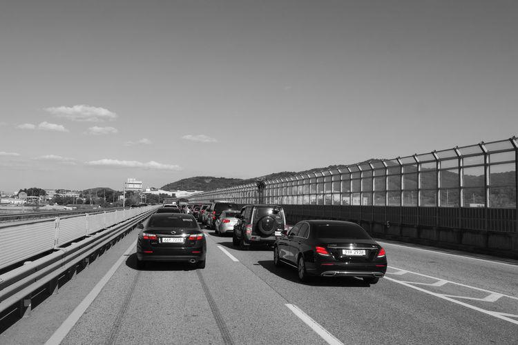 Transportation Mode Of Transportation Car Motor Vehicle Land Vehicle Road Street Traffic Jam Red Lipstick Red Color