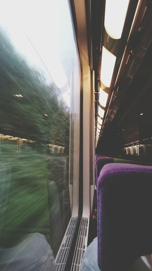 On the way to Le Havre, Normandie, Train Photography , Lines , Speed , Vantage Point Eyeemphotography capturing motion