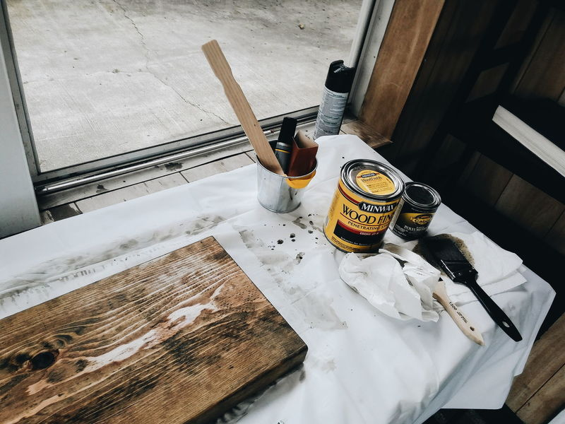 Painting Diy Project DIY Wood - Material Wood Priming Painting And Priming Art Project In The Back Paint Brush Paint Splotches Everything In Its Place Fine Art Photography Home Is Where The Art Is BYOPaper! Visual Creativity