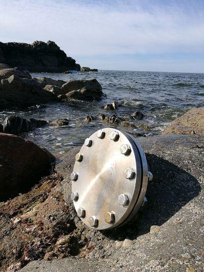Banff  Aberdeenshire Scotstown Water Beach Wastepipe Stainless Steel  Moray Firth Shoreline Northeast Coast