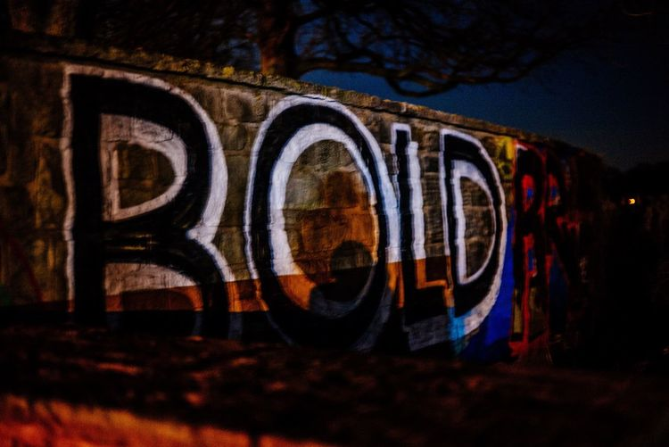 Architecture No People Outdoors Illuminated Built Structure Architecture Building Exterior Text Night Graffiti