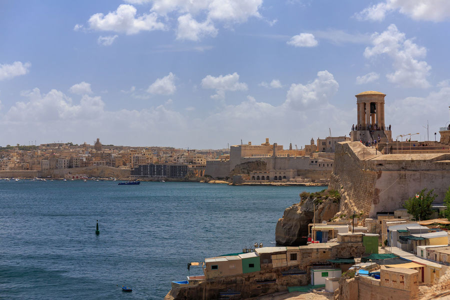 Grand Harbor. Harbor Liberty Bell Malta Mediterranean  Portrait Of A Woman Architecture City Day Grand Harbour Harbor View History Outdoors Sea Sky Sunny Day Travel Destinations Valletta Water Waterfront