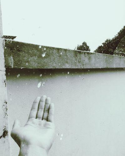 Pouring rain.