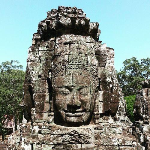 Head tower at Baphuon Baphuon Angkorthom Angkor Angkorwat SiemReap Cambodia