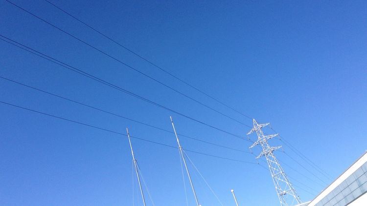 青空 Blue Sky 空 Sky 鉄塔 Steel Tower  電線 Electric Wire