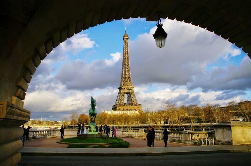 Tour Eiffel Eiffel Tower Eiffelturm Paris View Sunset Architecture