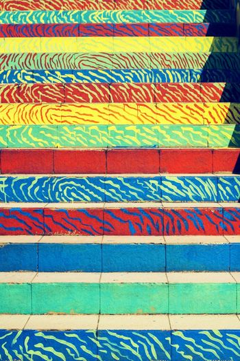Multi Colored Full Frame Pattern Backgrounds Textured  INDONESIA Low Angle View Close-up Day EyeEm Diversity