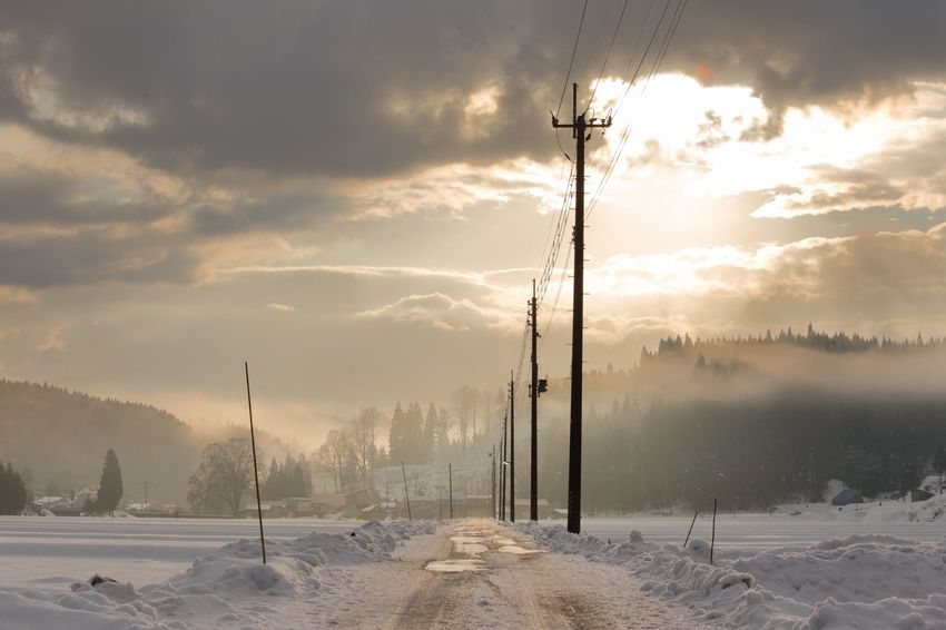Japan Morning Winter Cold Temperature Snow Weather Nature Beauty In Nature Sky Day No People Landscape Cloud - Sky