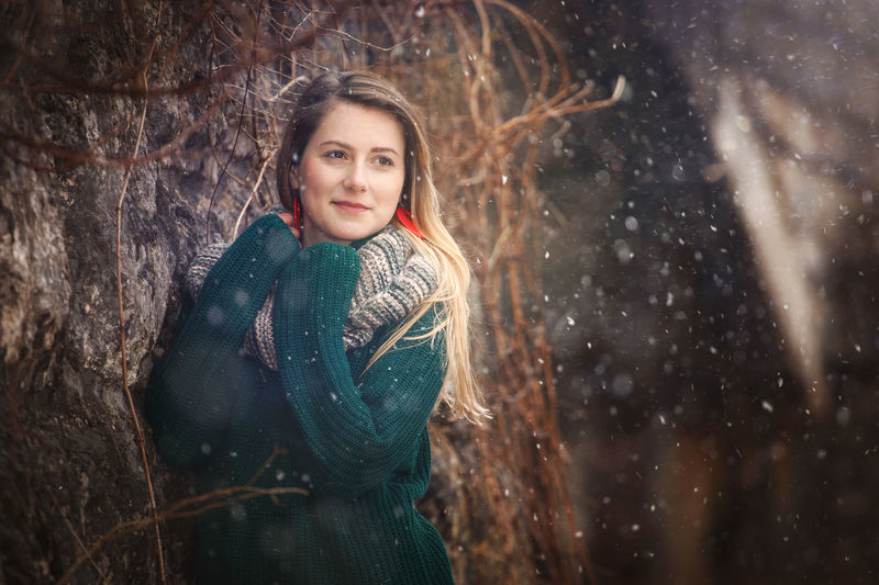 Artistic and natural portrait of beautiful woman in the nature. Woman Face Portrait Beautiful Beauty Smile Female Girl Young Hair Natural Nature Outdoors Skin White Happy Attractive Background Lifestyle Fashion Cute Green Blouse Wool Winter Looking At Camera One Person Clothing Smiling Tree Young Adult Cold Temperature Women Happiness Emotion Snow Warm Clothing Forest Young Women Beautiful Woman Snowing Hairstyle Innocence