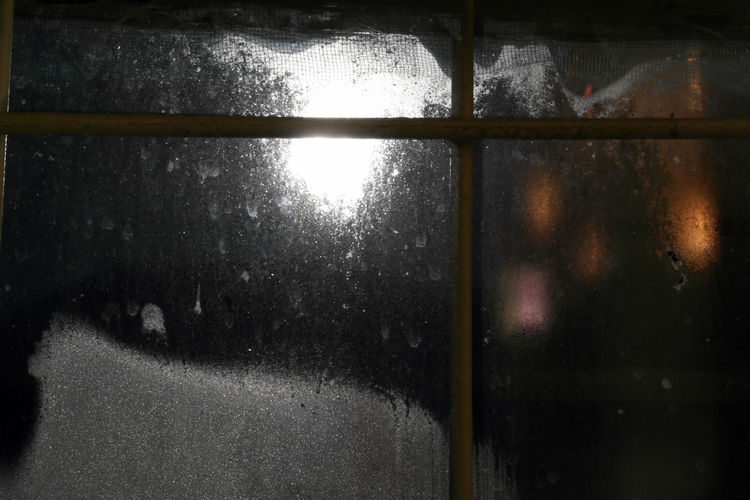 Background Black Background Indoors  Light From Windows Light Of The Moon Moon Night Wet Window