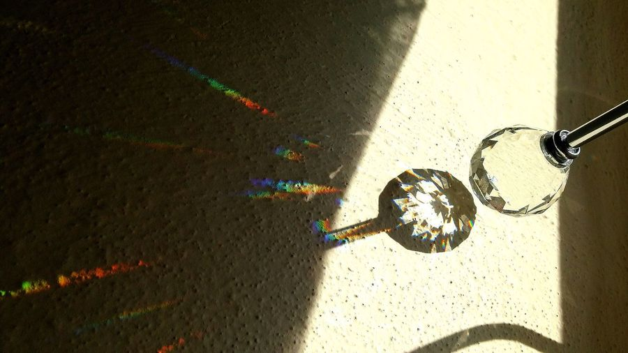 Shadow Sunandshadow Shadowinthewall Colors Colorsshow Diamond No People Glass Objects  Glass Diamond Glass - Material EyeEmNewHere