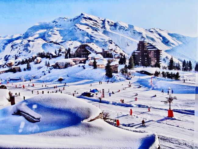 Holiday Traveling Winter Snow Montana Alps Snow ❄ Avoriaz A Room With A View