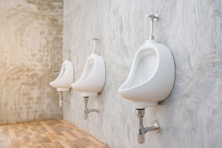 Urinals in bathroom