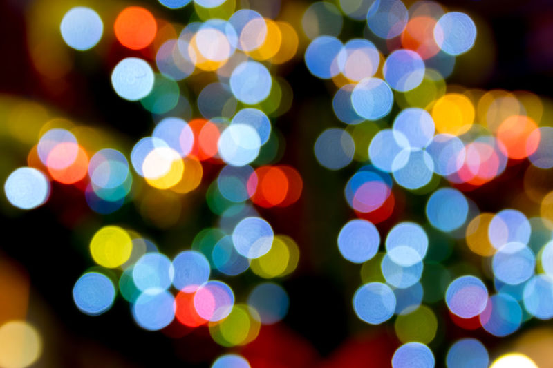 Colorful blurred bokeh of lights background.