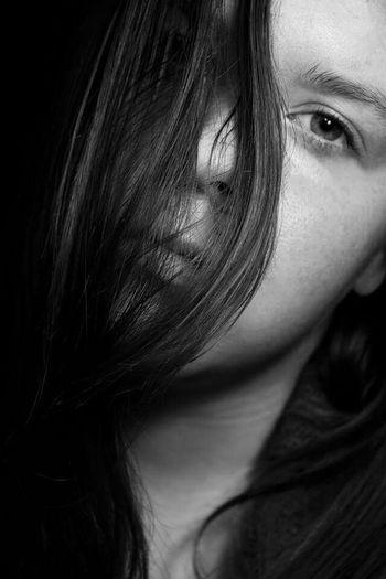 Simple self portrait i shot yesterday Selfportrait Selfie ✌ Blackandwhite Beautiful Average Hair