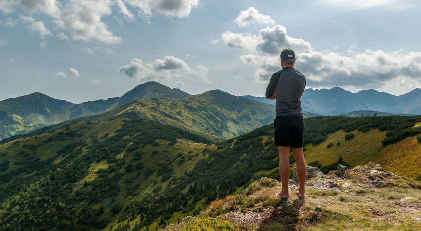 Lost In The Landscape Tatry Poland Adventure Adventuretime Backpack Cloud - Sky Day Hiking Hikinglovers Landscape Lifestyles Mountain Nature Outdoors Rakon Tatry Mountains