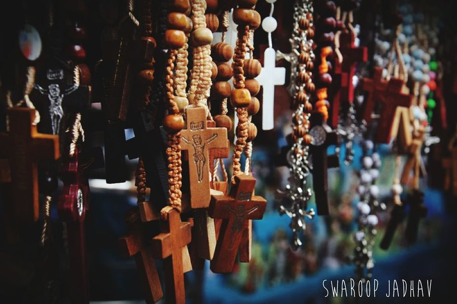 EyeEm Selects Hanging Market Stall For Sale No People Indoors  Choice Variation Day Close-up Large Group Of Objects Rosary JEJUS Holycross Market