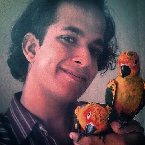 I may be an Idiot , but my idiocy doesn't stop me from Loving , Respecting , Serving and interacting with anyone unconditionally ... My SunConures taught me that... 3Idiots 3Posers cute handtamed parrots pets instapets selfie posers petlovenation animalslove petslove unconditional love TheWildlifeExperienceCentre Karachi
