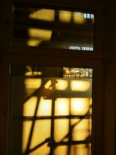 Window Shadow Indoors  Sunlight No People Metal Grate Illuminated Day Close-up Berlin