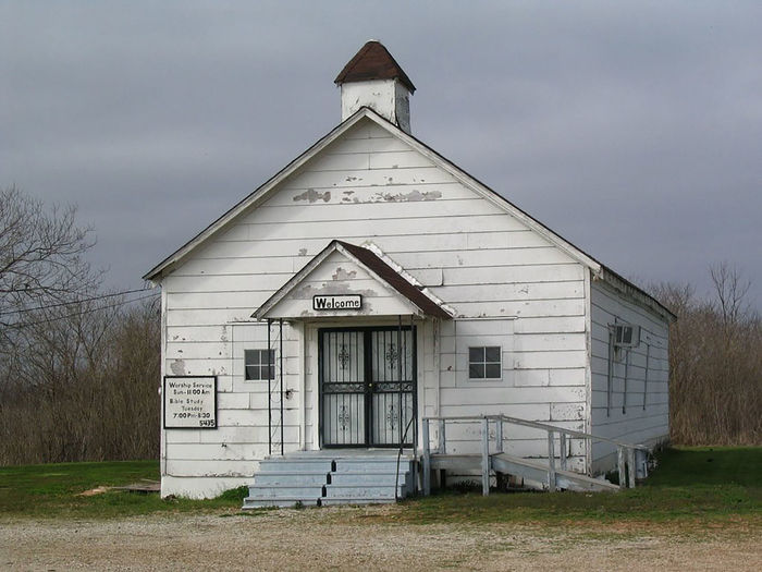 Architecture Building Exterior Built Structure Church Cloud - Sky Day Door Entrance Exterior Façade Grass Mississippi  Old Church Outdoors Rural Scene Sky Weathered Window