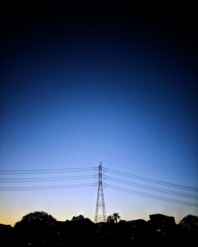 Electricity Pylon Technology Tree Sunset Electricity  Cable Silhouette Power Supply Fuel And Power Generation Power Line  Telephone Line Phone Cord Electrical Component Bandwidth Sky Only Scenics Tranquil Scene Television Aerial