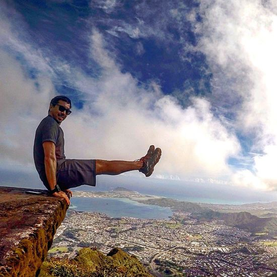 Adventure Club on top of Stairway To Heaven in Oahu Hawaii Gopro Living Life Activeliving Backpacking Loving Life!