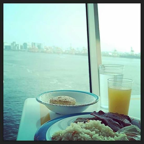 breakfast in the ship with a beautiful view in tokyo 😍😍 Life Is A Beach Summertime Travelling Summertravels