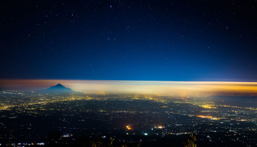 Cityscape Dark Horizon Nature Night No People Outdoors Scenics - Nature Sky Space Star - Space Travel Destinations