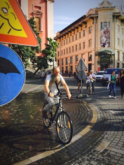 Buffalo Soldier the wizard on bike Bike Bicykle Man Beard Beard Life Lublana