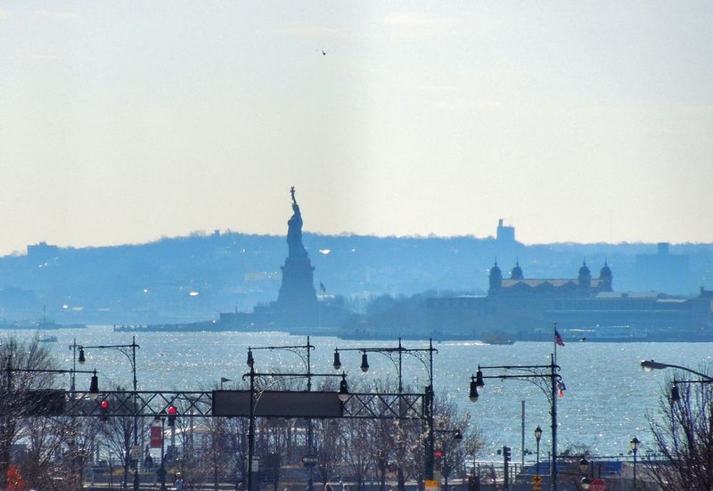 Lady Liberty Statue Of Liberty Ellis Island  NYC NYC Photography Silhouettes Hudson River High Line Park