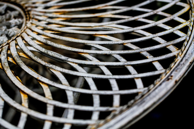 Latice metal table top. Curves Garden Dining Garden Eating Latice Board Lattice Metal Table Top Close-up Complexity Curves And Shapes Full Frame Garden Garden Furniture Metal No People Pattern Rusting Rusty Table Table Top