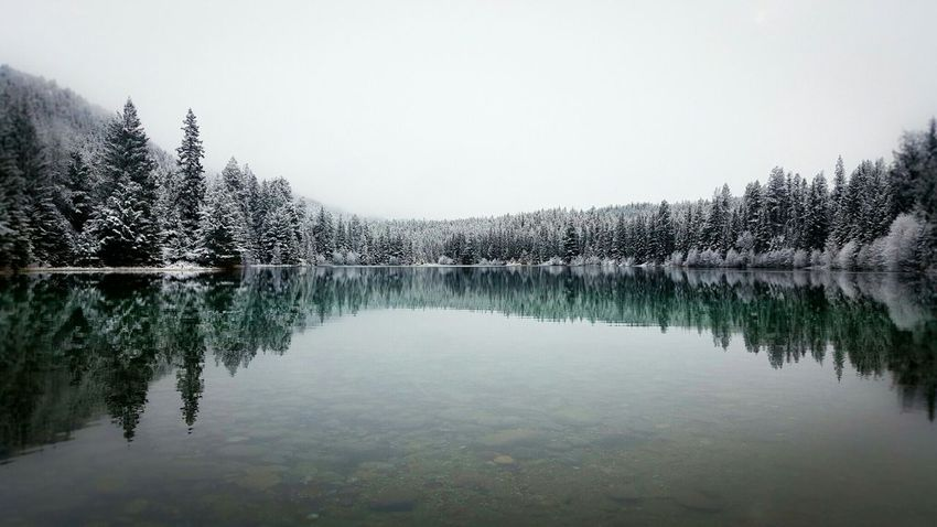 Snowing Lake Clearwater Jasper National Park Valley Of The Five Lakes Blue Water Samsungphotography Samsung Galaxy S6 Edge Mobile Photography Its Cold Outside