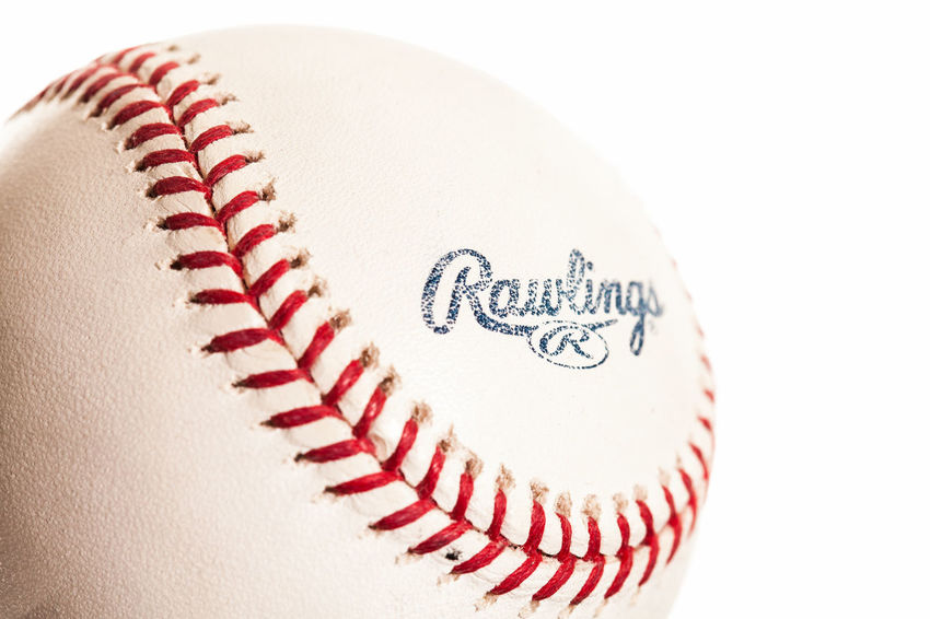 Ball Baseball - Ball Baseball - Sport Close-up Copy Space Cut Out Indoors  No People Pattern Red Single Object Sphere Sport Sports Equipment Still Life Studio Shot Team Sport White Background White Color