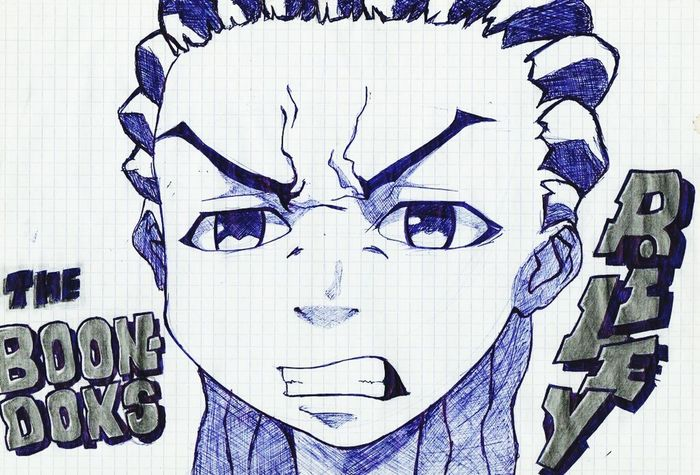 Boondocks Riley Angery Drawning Anime Character by Ammbee