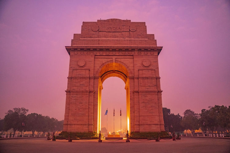 View of monument at sunset