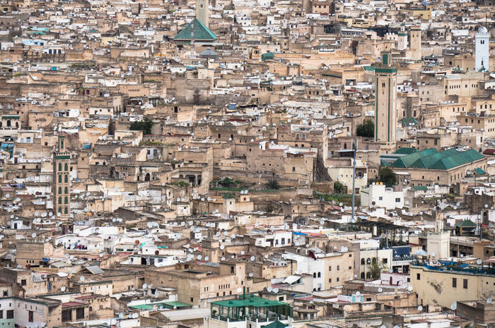 HIGH ANGLE VIEW OF A CITY