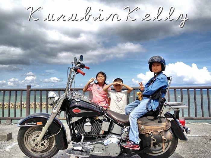 Harley-Davidson Bikers Motorcycles Harleydavidson Kids Okinawa Yanbaru Nago Sea Run 沖縄