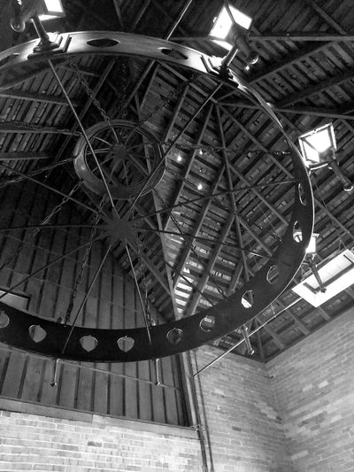 Old Chandelier Blackandwhite Photography EyeEm Selects Chandelier - Detail Architecture Built Structure Architectural Design Architectural Feature Roof Beam