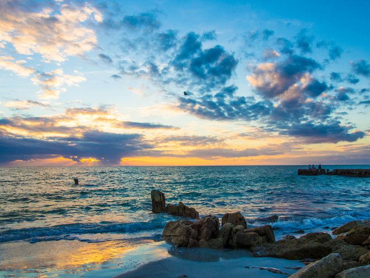 Siesta Key sunset Dramatic Sky Florida Gulf Coast Gulf Coast Sunset Gulf Of Mexico Sea Siesta Key Siesta Key Sunset Sunset Tranquil Scene Vacations