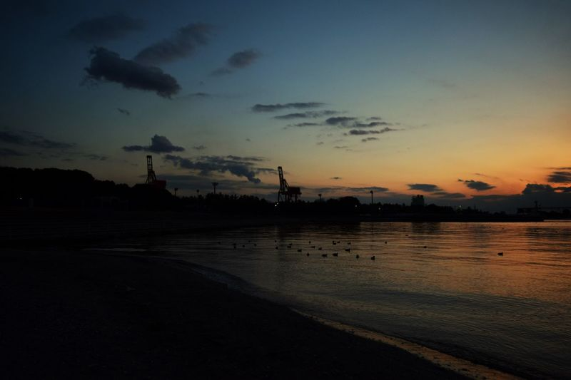 一眼レフ Nikon D3300 千葉ポートタワー 水平線 海 千葉 夕日 夜 景色 虹