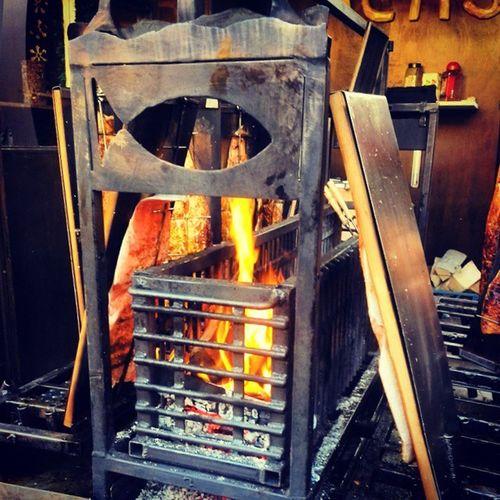 Christmas Market! Salmon BBQ Fire