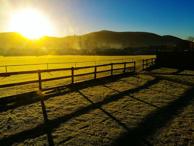 Nature Outdoors Grass Hills And Valleys Hills Landscape_photography Landscape Sunrise Sunset Sunlight And Shadow Sunset_collection Shropshire Hills Church Stretton