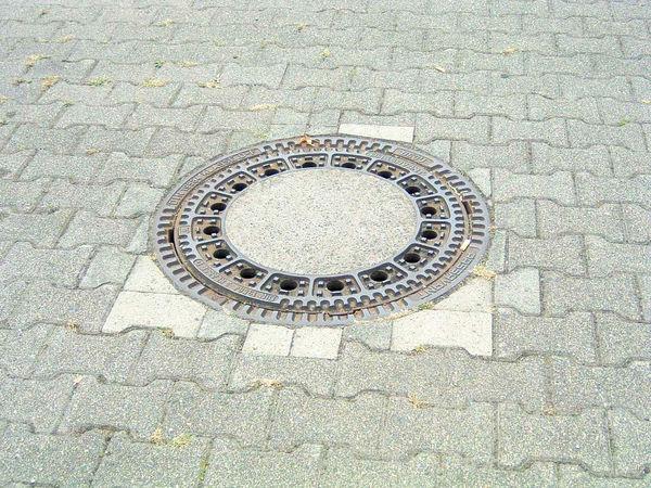 Cobblestone Day Drain Drain Cover Outdoors Pattern