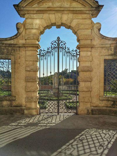 Asolo, Italy Showcase: December Italian Gardens Geometric Design Monumental Gates High Railings Backlight Long Shadows Gorgeous Hills Luxury Mansions