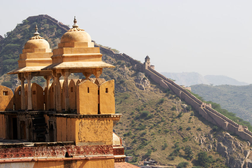 Amer Fort Architecture Mountain Built Structure Building Exterior Travel Destinations Sky Tourism The Past History Travel Day Outdoors Amer Fort Jaipur Rajasthan Military