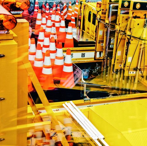 Business Indoors  High Angle View No People Factory Industry Yellow Mode Of Transportation Nautical Vessel Manufacturing Technology Wood - Material Sunlight Architecture Container Occupation Large Group Of Objects Machinery Seat Day