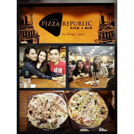 Life is like a pizza, it could be round or square. But youll enjoy most of it when it is something you share. Goodfriends PizzaRepublic Catchup GreatNight
