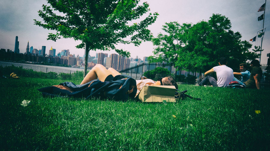 Building Exterior Built Structure Grass Green Color Lying Down New York Outdoors Park
