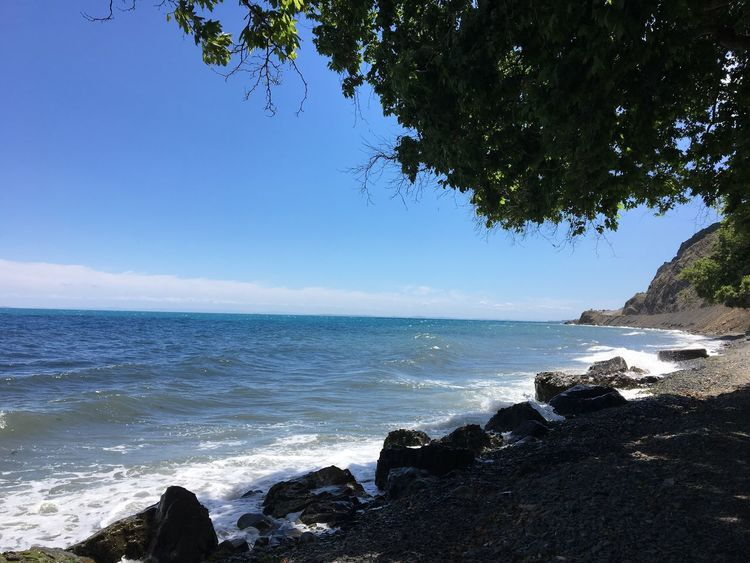 Sea Nature Beauty In Nature Water Sommergefühle Outdoors Blue Tranquility Beach Sky Wave Benimobjektifimden No Filter Summertime Tranquility Beauty In Nature Trakya Uçmakdere Rock - Object Perspectives On Nature Summer Exploratorium