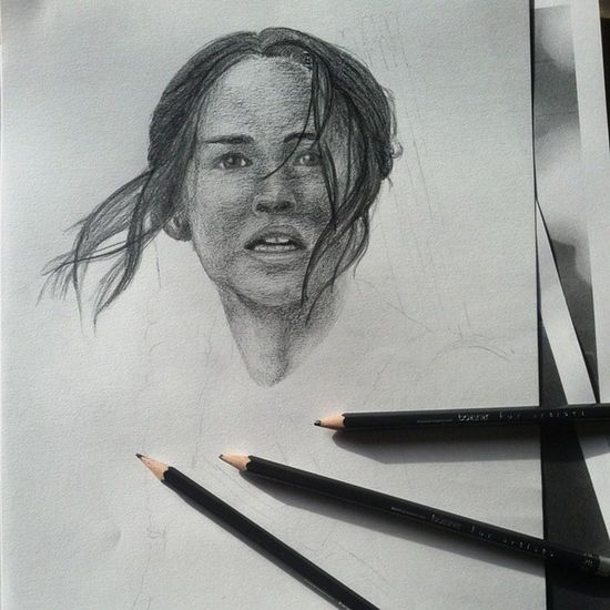 Recently I was in mockingjay part 1 and it was so awesome? what do you think of the movie? I like it so much. ? Mockingjay Katniss Jenniferlawrence KatnissEverdeen hungergames theartcommunity drawing portrait arts_help notdoneyet